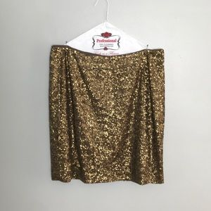 Banana Republic Heritage Bronze Sequin Skirt